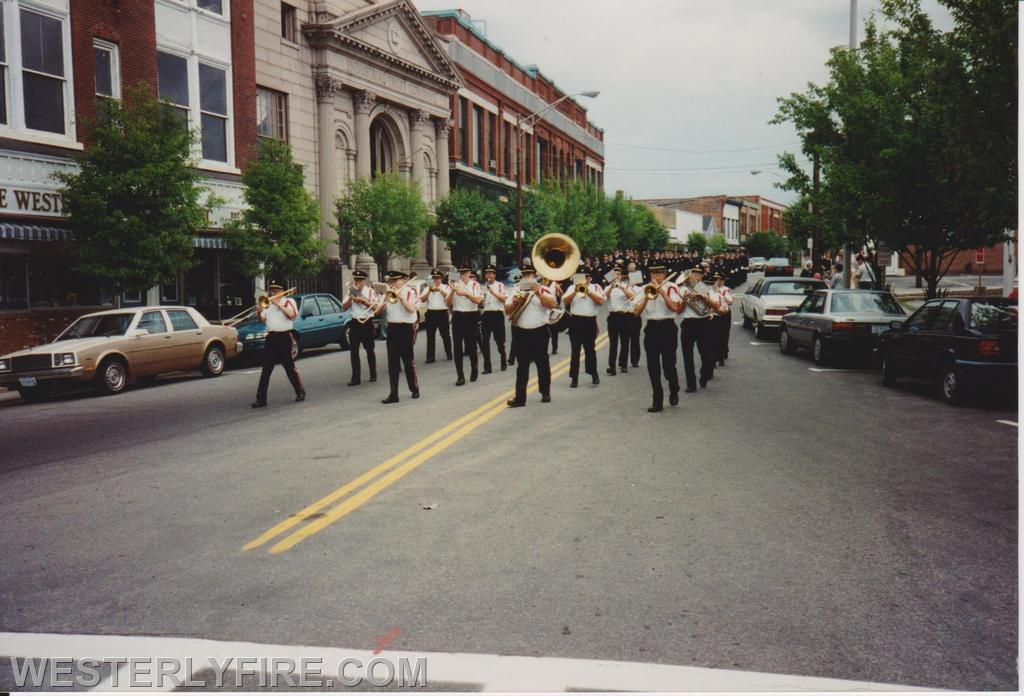 The Westerly Band follows the Honor Guard leading the parade.