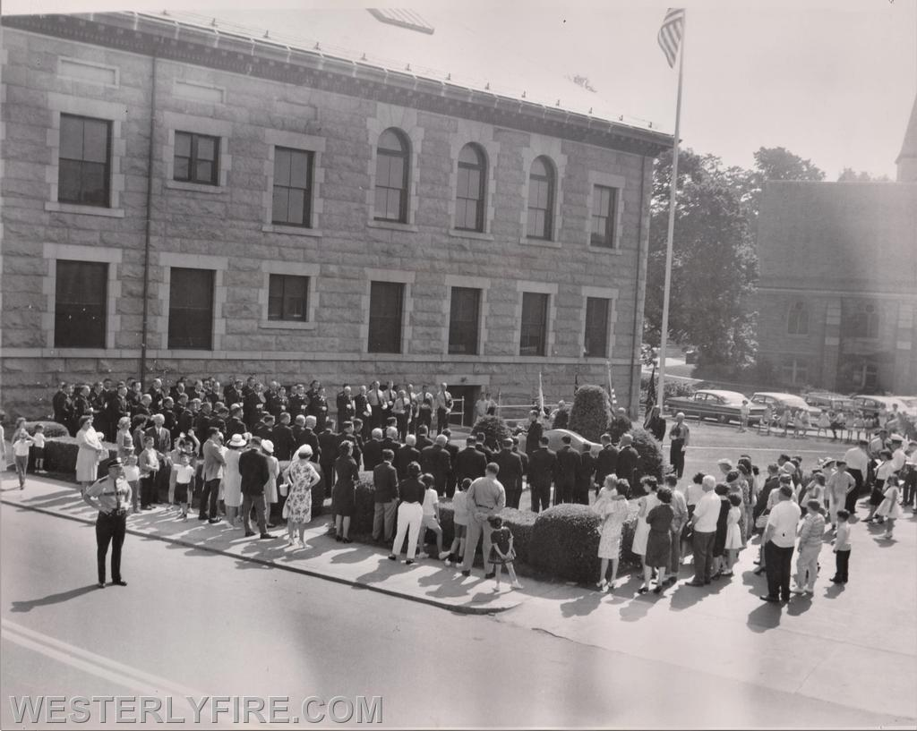 Service at the monument after the parade 1960.