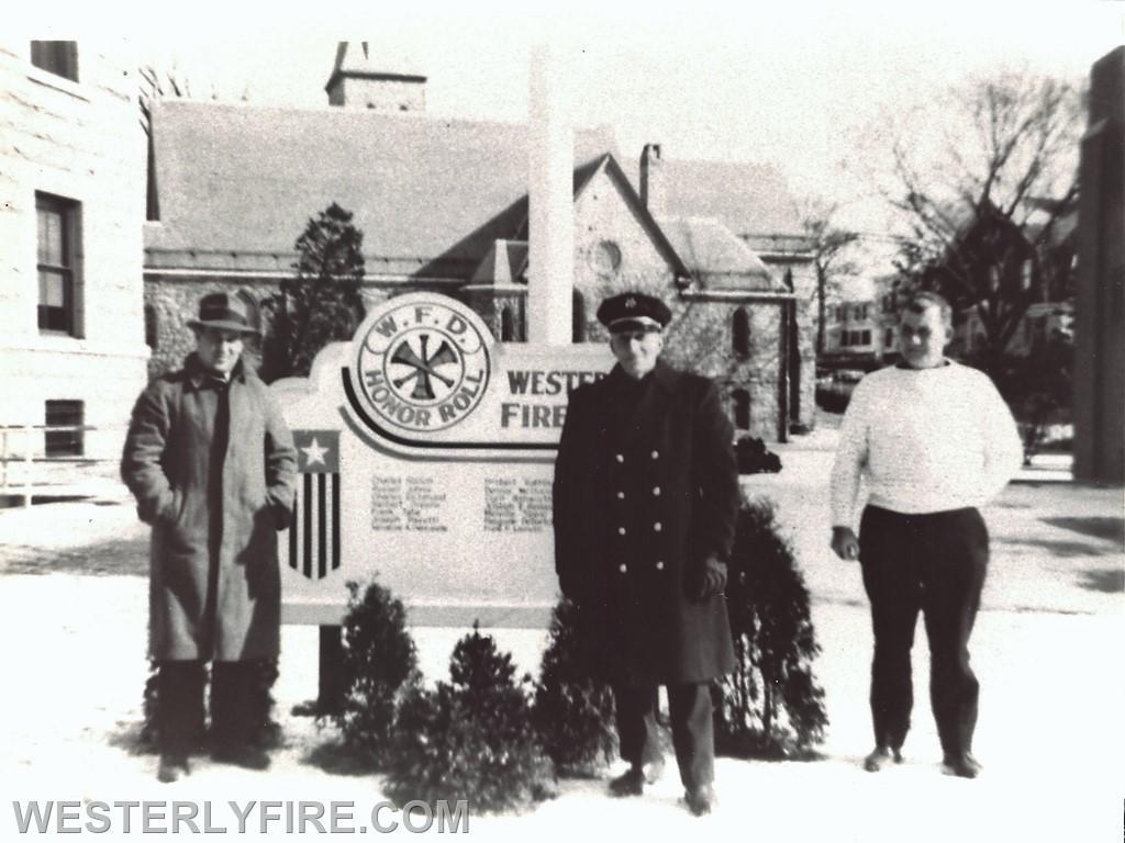 The original memorial board.