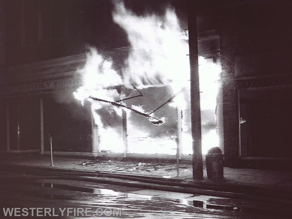 Box 3111 June 6, 1964. Westerly Furniture in the Lombardo Building. Backdraft occurs