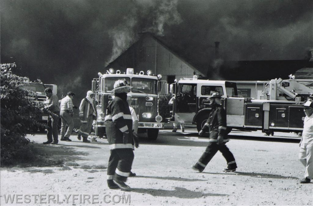 Box 1123- 8-15-1987- The front of the Hanley-Williams Lumber Yard.