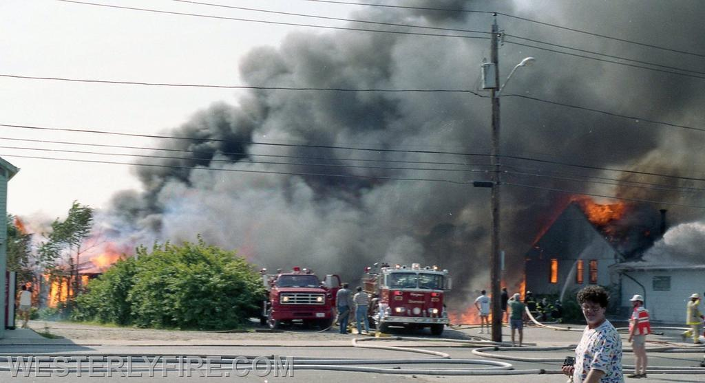 Box 1123- 8-15-1987- A view from the McQuade's parking lot at the height of the Hanley-Williams fire.